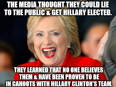 hillary clinton and media lied